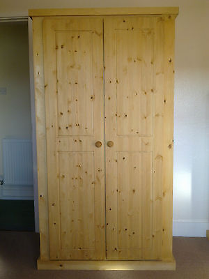 Pine Factory Direct Special Offer 2 Door Wardrobe Solid Pine Antique Waxed