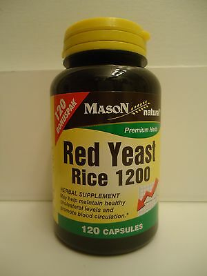 120 Capsules Red Yeast Rice 1200 Mg   2 Caps Lower Cholesterol Best Deal