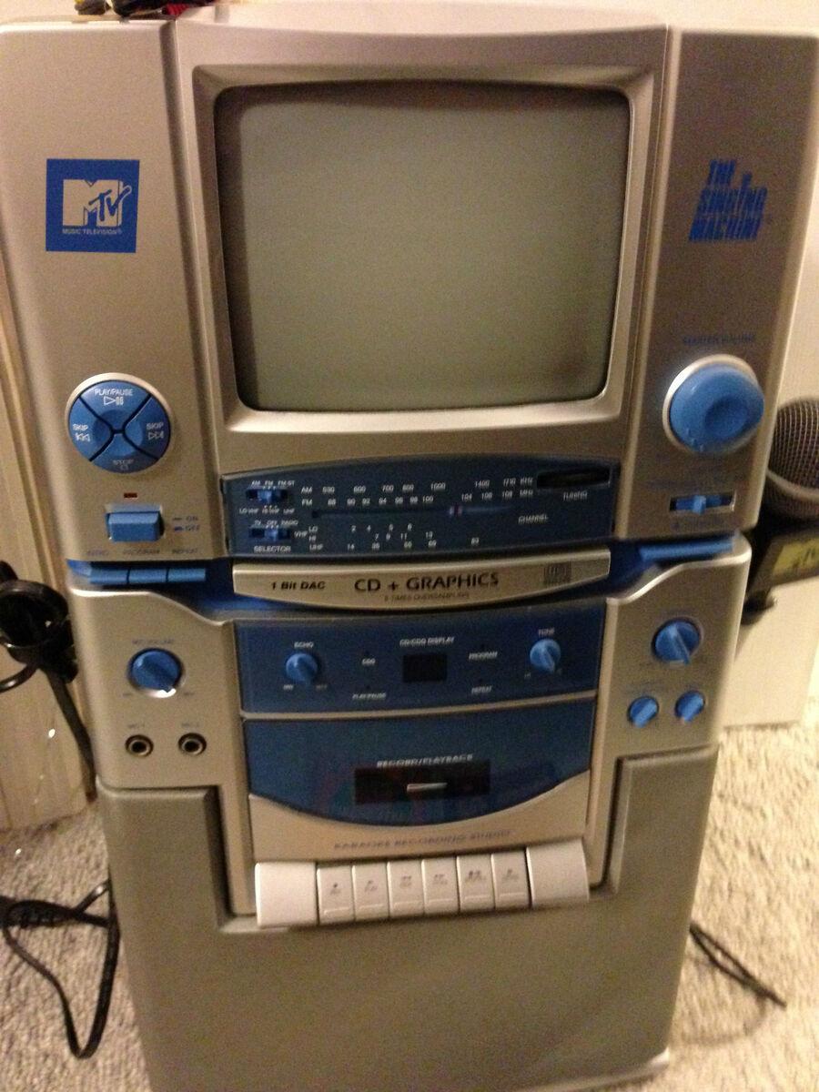 The Singing Machine Co MTV CD Tape Radio Karaoke System STVG