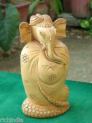 Ganesha Statue handicraft art X- Mase gift home Decor india wooden  sculpture