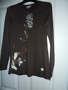 Really-Cute-OXBOW-Brown-Afrik-Long-Sleeved-T-Shirt-NWT