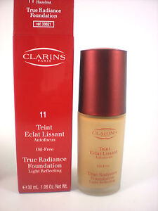 CLARINS true radiance foundation light reflecting makeup 30ml choose shade