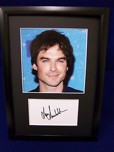 Ian Somerhalder (Damon Salvatore) #029 Framed Photo & Autograph Display