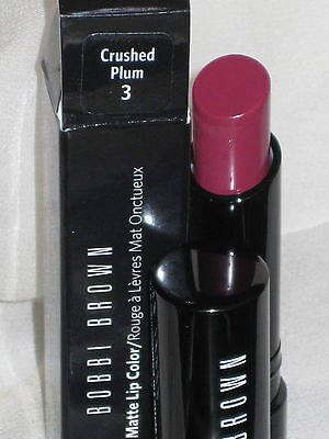 NIB BOBBI BROWN CREAMY MATTE LIP COLOR in CRUSHED PLUM #3
