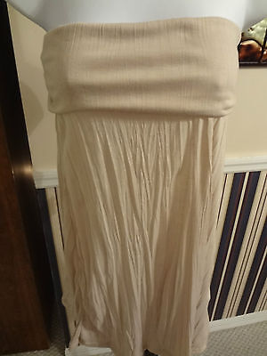 Woman's Size Med Tan Cover-up Strapless Dress By Lori Michaels Collection $49