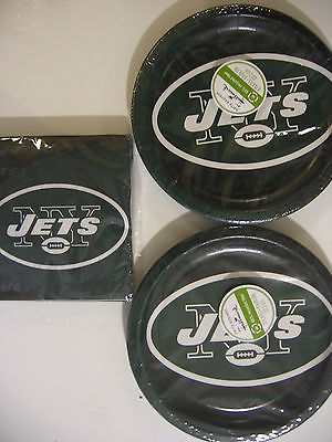 York Jets Nfl Football Party Supplies Includes Plates & Napkins