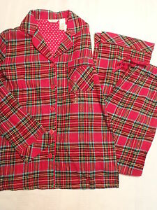 ADONNA Size S M L XL or 2X Choice Flannel 2-Piece Pajama Sleepwear Set NWT