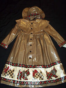 Vintage-Daisy-Kingdom-Raincoat-RAIN-COAT-Hat-SCOTTIE-DOG-New-w-Tags-Size-8