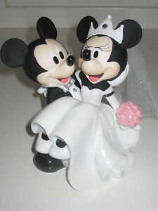 Disney Parks Mickey And Minnie Wedding Cake Topper Figurine Brand New