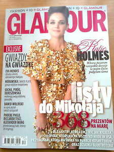 Glamour 12/12 front KATIE HOLMES in.Eva Mendes,Scoot McNairy,Bred Pitt - Czestochowa, Polska - Glamour 12/12 front KATIE HOLMES in.Eva Mendes,Scoot McNairy,Bred Pitt - Czestochowa, Polska