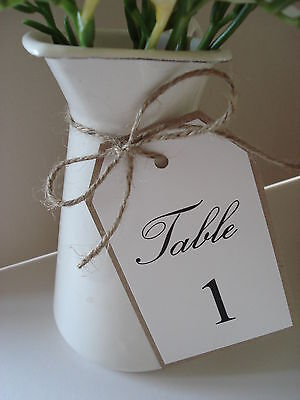 1 Vintage/Shabby Chic Style wedding table number tag