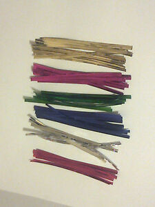 100-4-Approx100mm-Long-Metallic-Twist-Ties-for-lollipops-bags-Craft-Party-Bag
