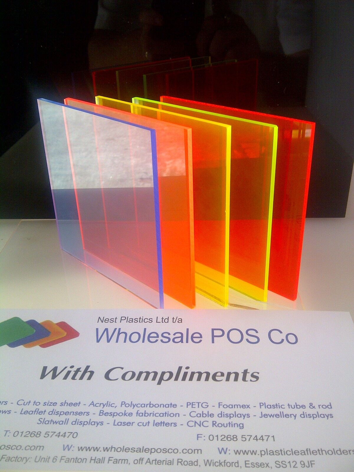 Acrylic Perspex Fluorescent Plastic Sheet 3mm Thick Blue