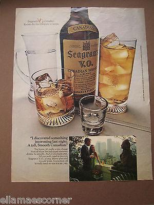Vintage 1969 Seagram's VO Canadian Whiskey Magazine Print Ad