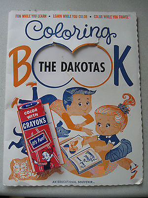 Coloring Book THE DAKOTA S AN EDUCATIONAL SOUVENIR 16 PAGES OF TRAVEL FUN LEARN
