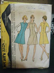 Vintage-McCalls-3528-Misses-Dress-Pattern-Size-14