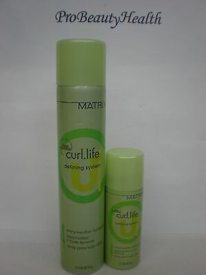MATRIX CURL LIFE  Every Weather Hair Spray  with travel size!