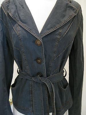 Morrissey Womans Gray Denim Cotton Jacket Size 6,nwt,$ 280.00