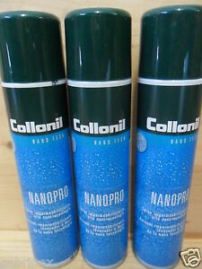 Collonil-NANOPRO-Nano-Pro-Waterproofing-Spray-IMPERMEABILIZZANTE-300-ml-x3-pezzi
