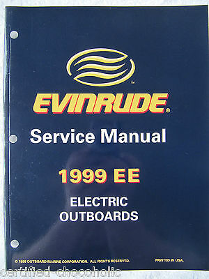 1999 Evinrude Factory Service Manual - Trolling Motors - Free Shipping - 787021