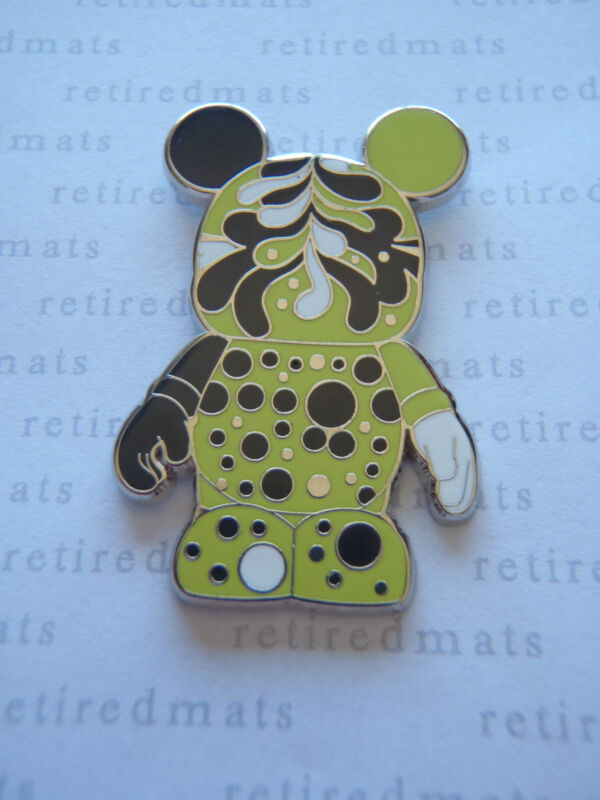 AUTHENTIC Disney Vinylmation Pin Urban #4 YELLOW SPLATTERED Black White Mickey