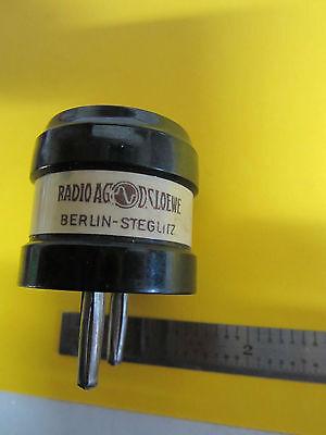 Vintage Wwii German Radio Ag Loewe Steglitz Quartz Crystal Frequency