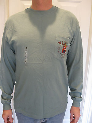 Warner Brothers Long Sleeve Cotton T-shirt With Front Design Size M ,