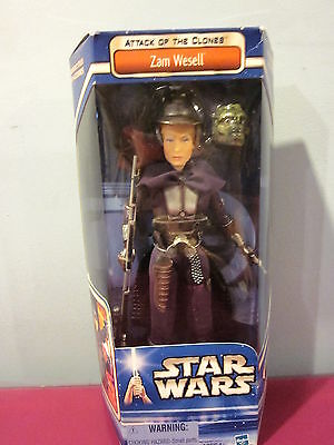 Star Wars Attack Of The Clones Zam Wesell 2002 Hasbro