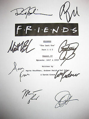 Friends Signed Finale TV Script X8 Jennifer Aniston Courteney Cox Lisa Kudrow rp