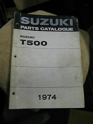 Suzuki T500 Parts Catalogue 1974 Good Condition.
