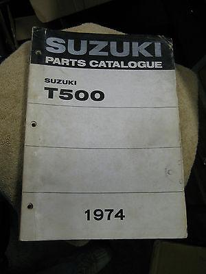 Suzuki T500 Parts Catalogue 1974 Good Condition.