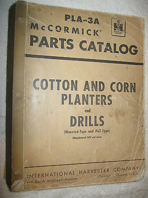 Large Ih Mccormick Cotton Corn Planters Drills 664 Page Parts Catalog