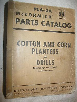 Large Ih Mccormick Cotton Corn Planters Drills 664 Page Parts Catalog