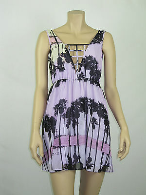 T By Bettina Liano Ladies Sleeveless Sunset Print Dress Size 6 8 10 12 Multi