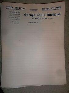 Facture vierge garage duchene citro n la verpilli re is re for Facture garage vierge