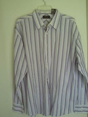 Mens Px Clothing Striped Dress Shirt Sz Xxl
