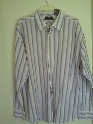 Mens Px Clothing Striped Dress Shirt Sz Xxl