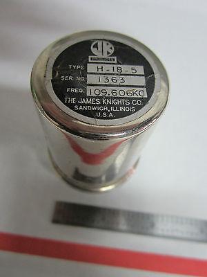 Vintage James Knights Cts Jk Quartz Radio Crystal Frequency 109.606 Kc