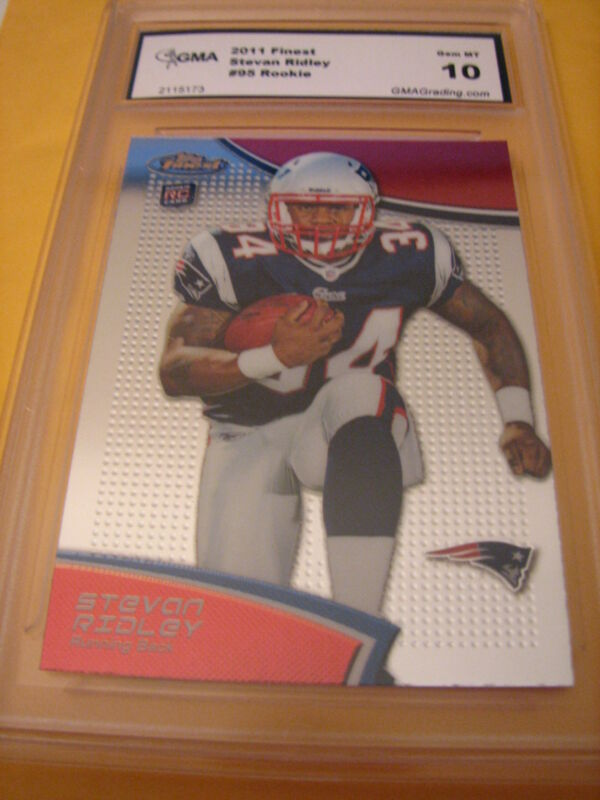 STEVAN RIDLEY PATRIOTS 2011 TOPPS FINEST # 95 ROOKIE RC GRADED 10 L@@@K