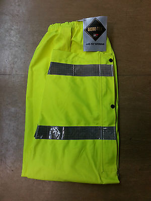 NEW Ex Police Waterproof Gore-Tex Hi Vis Over Trousers Size Medium XS