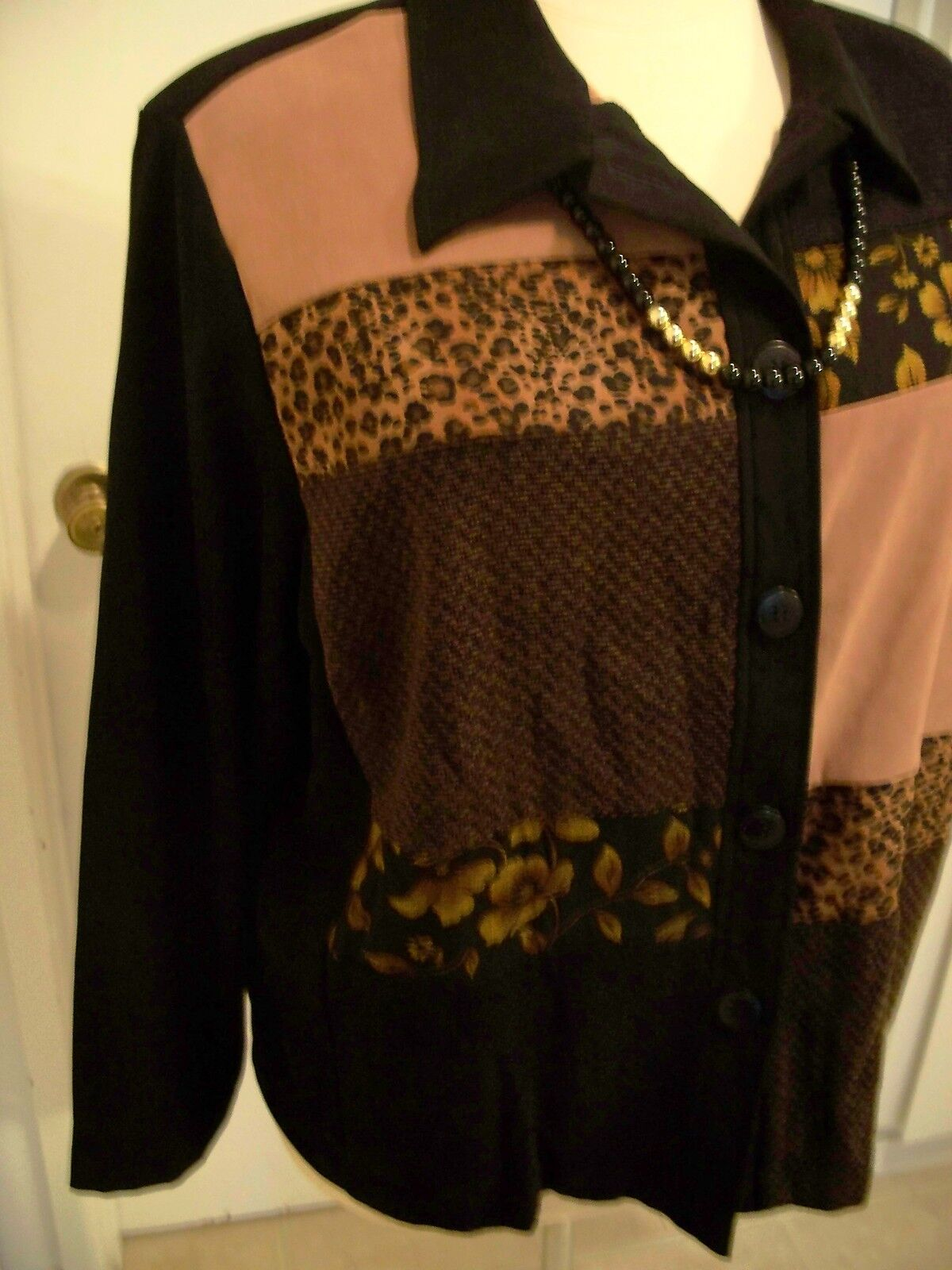 Jacket - Liz Baker Sz 24w Brown/black Mole Polyester New. - 51