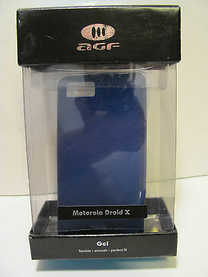 Agf Motorola Droid Gel Flexible Purple Case In Pack