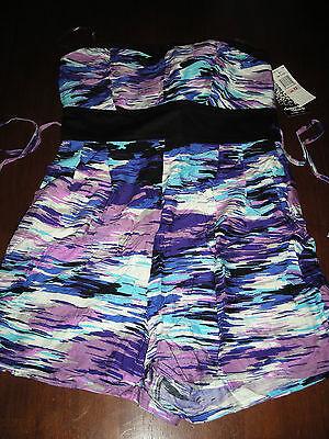 Lot 321 My Michelle Sequin Hearts Strapless Multicolor Romper Shorts Juniors 13