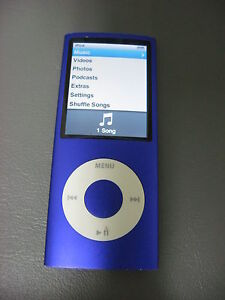 8GB-Apple-iPod-Nano-4th-Gen-Chromatic-Purple-A1285-Functional-MP3-Player