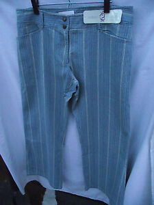 BNWT-Womens-Sz-26-Autograph-1626-Brand-Pale-Blue-Denim-Cream-Stripe-Jeans-RRP-50