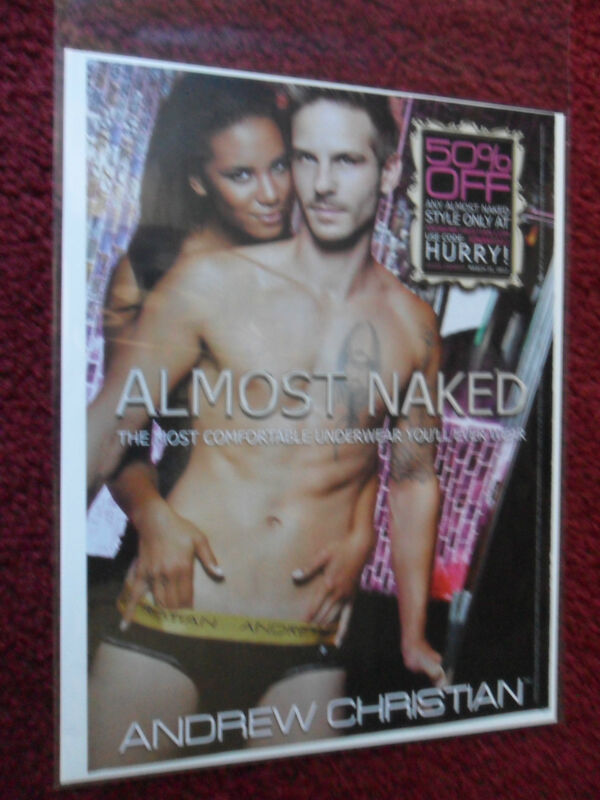 2012 Print Ad Andrew Christian Men