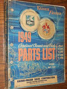 1949-KAISER-FRAZER-MASTER-BODY-AND-CHASSIS-PARTS-CATALOG-ORIGINAL-BOOK