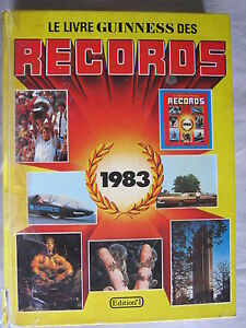 le livre guinness des records 1983 de norris mcwhirter ebay. Black Bedroom Furniture Sets. Home Design Ideas
