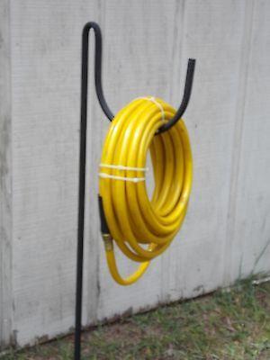 NEW wrought iron look heavy duty metal garden hose holder / hanger