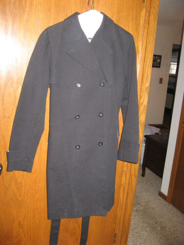 Classic Black Ladies Trench Coat from Express Size 7/8